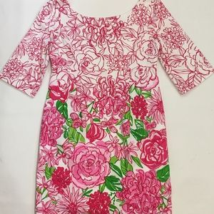 LILLY PULITZER Cotton/Silk Floral Zip Dress 2